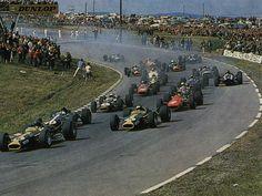 Watkins Glen 1967 (note lack of safety barriers!!)