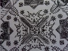 105. Classical batik motifs based on water plants: Ganggong Curiga. Curiga= keris= dagger; suspicious. The keris is a sacred weapon. It is called perhaps since the bearer is considered to be suspicious/chary of danger.
