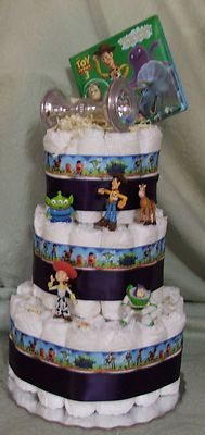 3 Tier Diaper Cake Toy Story Shower Centerpiece Baby or Girl | eBay OMG Love it Toy Story