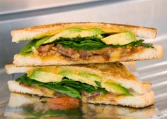 BLAT Melt, a recipe from The Grilled Cheese Truck using Tillamook Cheese and Butter