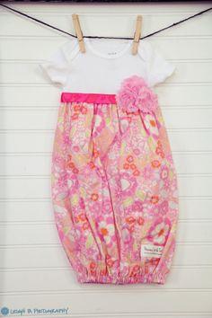 Baby Onesie Layette Gown 36 Months New Mom by PreciousLittleTot