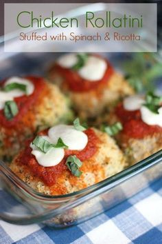 Chicken Rollatini - Stuffed with Ricotta and Spinach!  Make 5 or 40!  Great for a crowd and so easy to make!