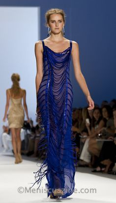 Absolutely divine 2011 Carlos Miele blue gown.