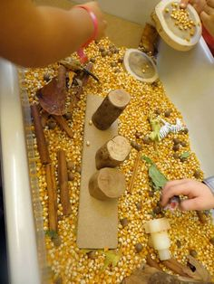 Zandtafel: Mais in de zandtafel