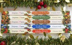 Festive Incense 40 sticks (5pkts x 8 sticks) Frankincense & Myrrh, Cinnamon & Satsuma, Cinnamon Spice, Winter Berry, Festive Pine - gorgeous!