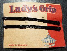 VERY Long -9cm -Black 1920s LADY'S GRIP Hair Pins x 4  | eBay