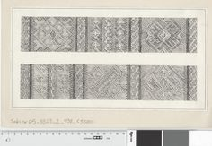 technical drawing of the Oseberg tablet-woven band.