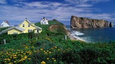 View top-quality stock photos of Houses On The Coast Of Perce Quebec Canada. Find premium, high-resolution stock photography at Getty Images. Grand Tour, Parc National, National Parks, Riding Mountain National Park, Bas Saint Laurent, Sea To Sky Highway, Canadian Travel, Atlantic Canada, Natural Disasters