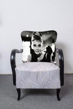 Art deco Audrey Hepburn