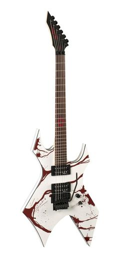 B.C. Rich JJSW2 Electric Guitar, Blood Splatter. B.C. Rich B.S.D.M. pickups. Tune-o-matic bridge. Bolt-on neck construction. B.C. Rich diecast tuning machines.