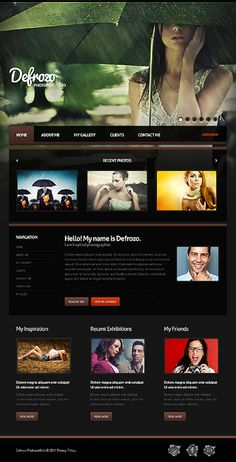 Beautiful WordPress website template for photographers or designers. $69