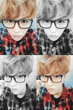 luhan in hipster glasses :] #exo