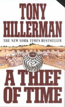 A Thief of Time by Tony Hillerman.  Wonderful series.