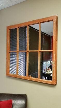 Burnt Orange Window Mirror Wood Mirror by www.etsy.com/shop/TheDecorativeCompanyTheDecorativeCompany