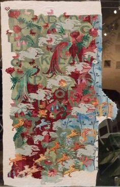 Merci Marie, Art Du Fil, Bohemian Rug, Textiles, Embroidery, Blog, Home Decor, Yarn Flowers, Contemporary Embroidery
