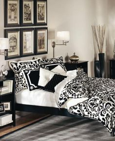 Fabulous black and white decor ideas black white bedroom decorating ideas love all the and . ordinary black and white decor Black Bedroom Design, White Bedroom Decor, White Bedroom Furniture, Bedroom Black, Black Furniture, Master Bedroom Design, Bedroom Designs, Bedroom Ideas, Bedroom Inspiration