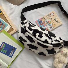 Cow Outfits, Fashion Bags, Fashion Outfits, Fashion Clothes, Fashion Ideas, Korean Aesthetic, Cow Print, Cute Bags, Kawaii Fashion