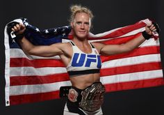 UFC women's bantamweight champion Holly Holm poses backstage for a post-fight portrait after the UFC 193 event at Etihad Stadium on November 2015 in Melbourne, Australia. Holly Holm defeated Ronda Rousey by KO in second round. Kickboxing, Muay Thai, Jiu Jitsu, Holly Holm Ufc, Ufc News, Ufc Women, Female Fighter, New Champion, Ronda Rousey