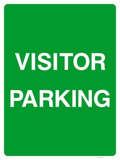 Buy a Visitor Parking Sign or explore other Parking signs at The Sign Shed Shop