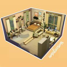 Sims 4 Build, Bedroom, Building, Cute, Instagram, Construction, Bed Room, Buildings, Kawaii