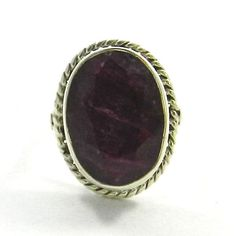 Size6 New Fashion Silver Ruby Corundum Ring, 925 Silver Ring, Men's Ring Jewelry #Handmade #Ring