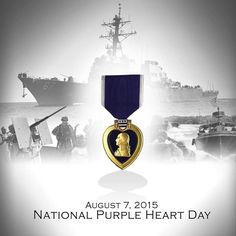 August is National Purple Heart Day! Us Military Medals, Navy Military, Military Life, Purple Heart Day, Killed In Action, Veterans Affairs, Land Of The Free, Support Our Troops, Military Personnel