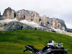My R1 at the Pordoi Pass! #motorcycle #tour #italy