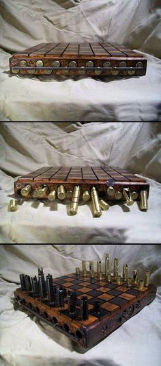 Awesome bullet chess set.   I don't play chess but I love just about anything that repurposes bullets