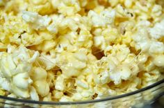 Ooey-Gooey Popcorn. This is sticky and sweet and salt and in no way fits into any weight loss diet. Ooey-Gooey Popcorn will satisfy your sweet and salty cravings.  3 steps. 4 ingredients.