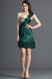 Nouvelle Collection Fabulous vert une épaule Cocktail Dress