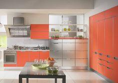 cute Orange Kitchen....