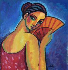 Mujer con abanico, 2