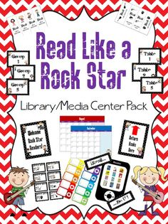"This ""Read Like A Rock Star"" Library/Media Center pack includes: 1 ""Read Like A Rock Star"" sign 1 ""Read Like A Rock Star"" flag/bunting set with bo. Stars Classroom, Classroom Themes, School Displays, Library Displays, Rock Star Theme, Star Reading, Library Themes, Library Center, Library Inspiration"