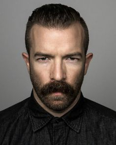 "hairygingerman: "" beardstache """