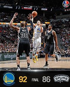 The Golden State Warriors hand the San Antonio Spurs their first loss at home this season, beating San Antonio 92-86. 4/10/2016