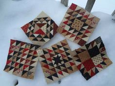 Quilts by Darlene - Scrap Basket blocks from Primitive Gatherings