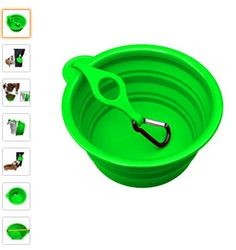 Northern Outback travel dog bowl on Amazon.com   Best Selling Large Silicone Travel Bowl with waterbottle clip  BPA Free