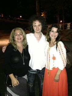 Narsis Eshghi Esfahani Tabazadeh   4 hours ago near Los Angeles, CA.    We waited outside and met the most amazing piano player after the show! Eat your heart out, Josh. — with Ruslan Sirota and Maryam Farhand Safai.