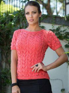 Free Knitting Patterns - Lace Pullover in Fancy Pattern Lace Knitting Patterns, Lace Patterns, Summer Knitting, Free Knitting, Quick Knits, Pulls, Crochet Top, Sweaters For Women, Arrow Keys