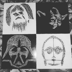Discover recipes, home ideas, style inspiration and other ideas to try. Disney String Art, Nail String Art, String Art Templates, String Art Patterns, Star Wars Crafts, Quilling Paper Craft, Diy Art Projects, Star Wars Party, Pebble Art