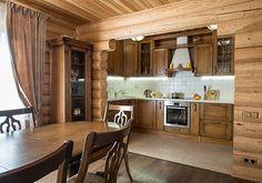 Коттедж из оцилиндрованного бревна от компании «Вятский дом» | Дома из оцилиндрованного бревна | Журнал «Деревянные дома»