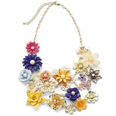 Multi Flower Necklace, 25 from JCPenney