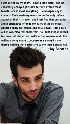 This just proves that Jay Baruchel is not egotistical, judgmental, or full of himself. he knows what is right and believes it. he his not the typical celebrity you see, he is down to earth and respects everyone. (comment if you agree) Más Jay Baruchel, How Train Your Dragon, Httyd, Thing 1, Inspire Me, Equality, Feminism, Wise Words, Beautiful Men
