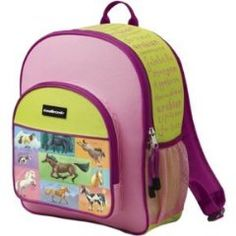 Cute backpack for girls who love horses.