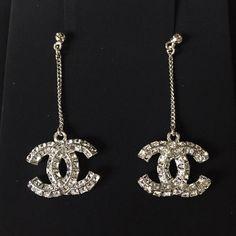 Crystal Cc Chanel Dangling Earrings