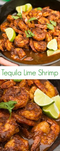 Tequila Lime Shrimp Recipe - A fast and easy weeknight dinner, serve this tequila lime shrimp with warm corn tortillas, over rice or tossed with pasta.