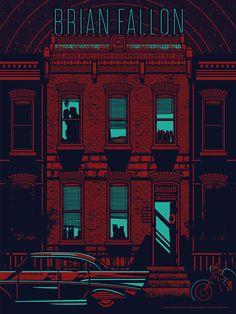Brian Fallon concert poster