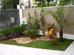 Jardins Externos!!! Fachadas com plantas, gramas e pedras!