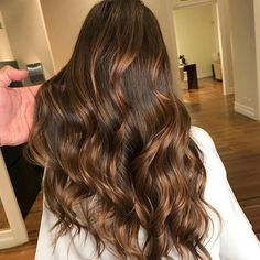 Long Dark Brown Shag with Textured Bangs - 20 Stunning Long Dark Brown Hair Cuts and Styles - The Trending Hairstyle Brown Hair Cuts, Brown Hair Looks, Hair Color Caramel, Chocolate Brown Hair Color, Brown Hair With Blonde Highlights, Hair Highlights, Balayage Hair, Her Hair, Hair Inspiration