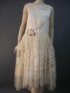 1928 robe de style wedding dress